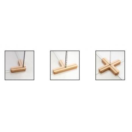 Soportes madera divisorias