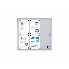 Vitrina BASIC magnética con puerta abatible